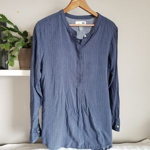 Old Navy Long Sleeve Popover Tunic Top sz L